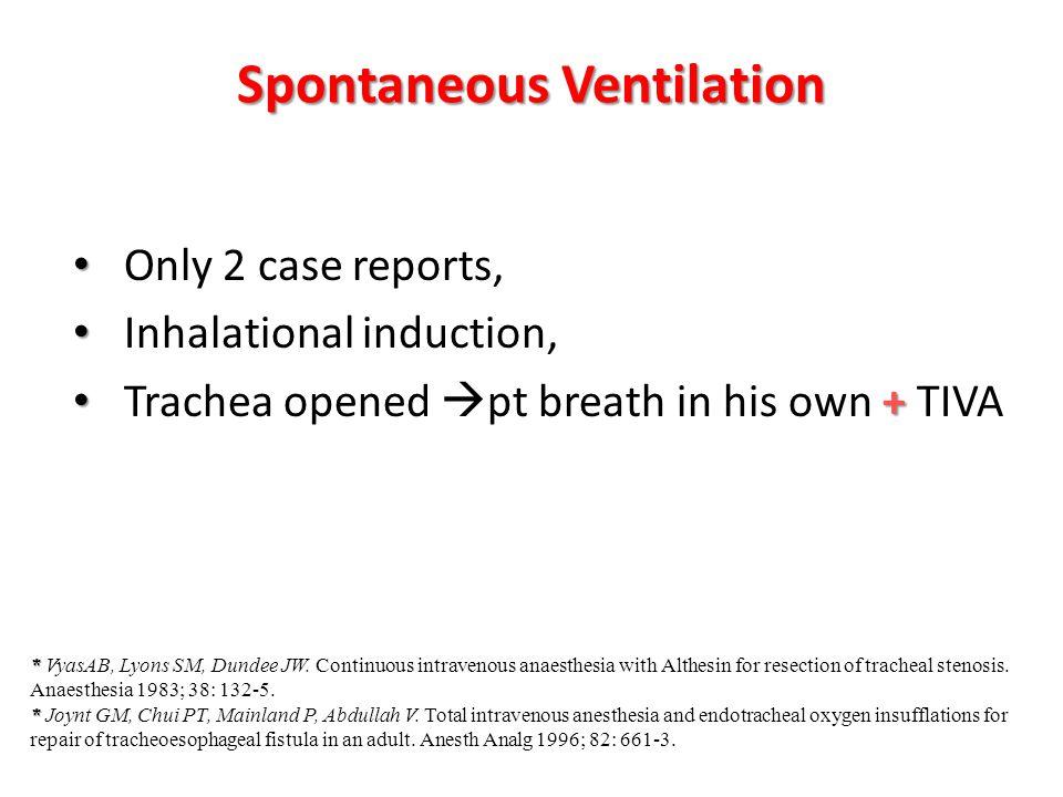Spontaneous Ventilation