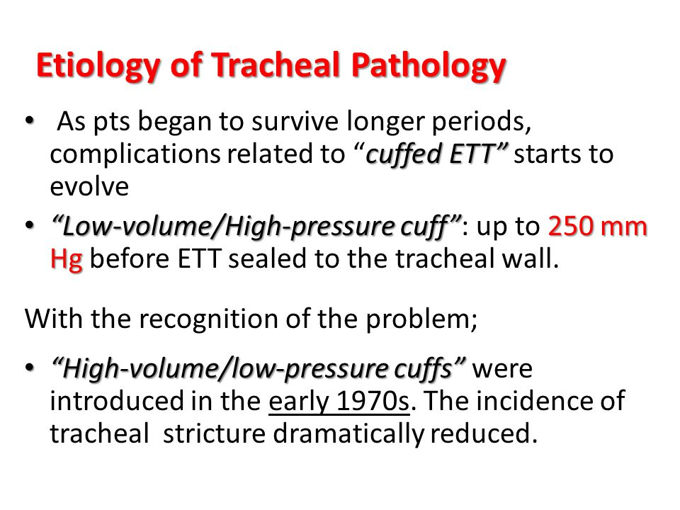 Etiology of Tracheal Pathology