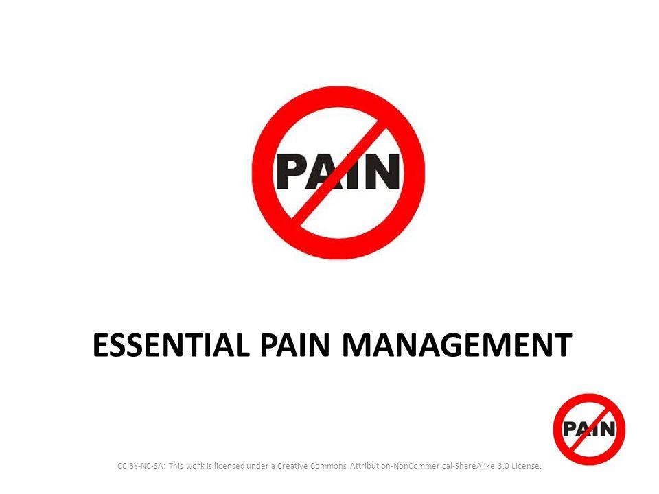 ESSENTIAL PAIN MANAGEMENT