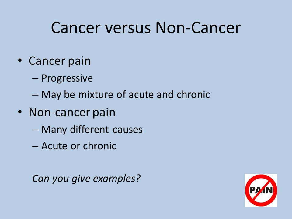 Cancer versus Non-Cancer