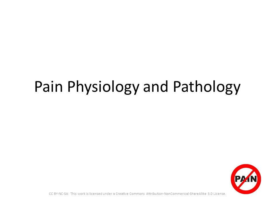 Pain Physiology and Pathology