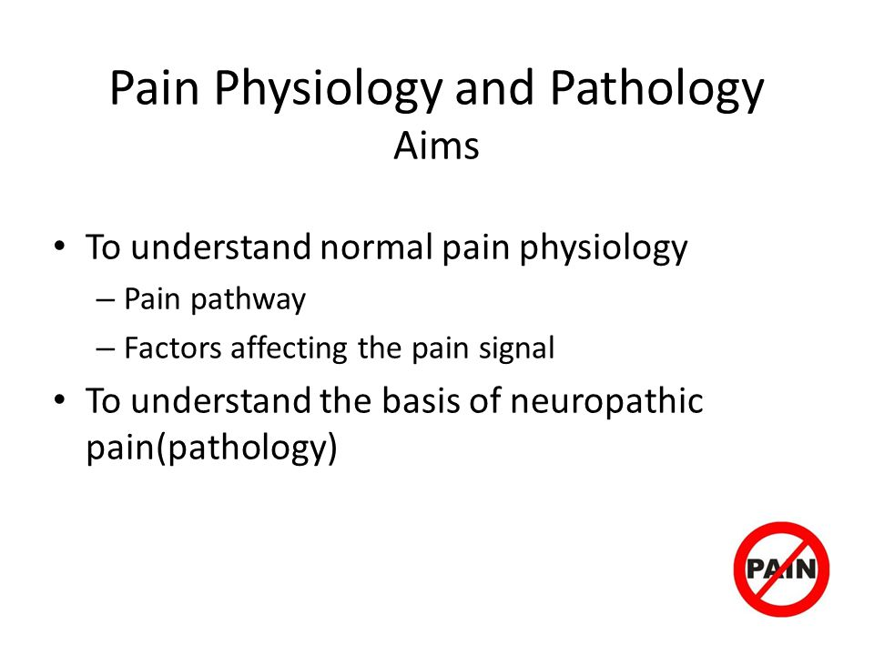Pain Physiology and Pathology Aims