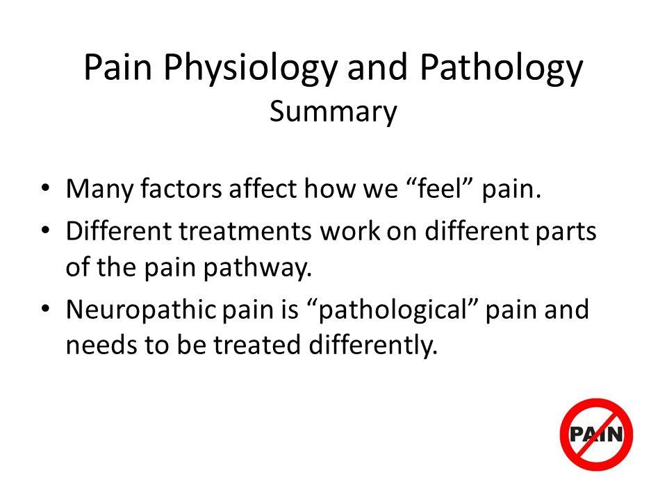 Pain Physiology and Pathology Summary
