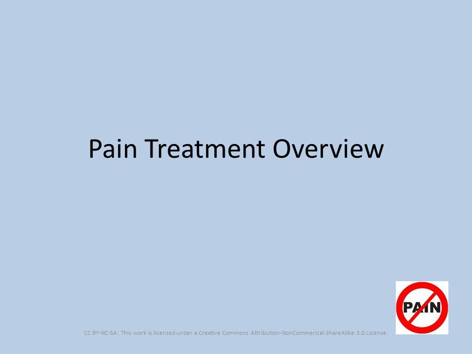 Pain Treatment Overview