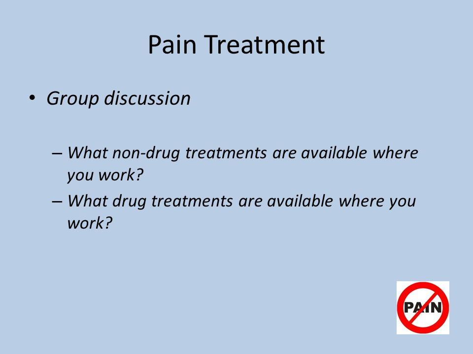 Pain Treatment Group discussion