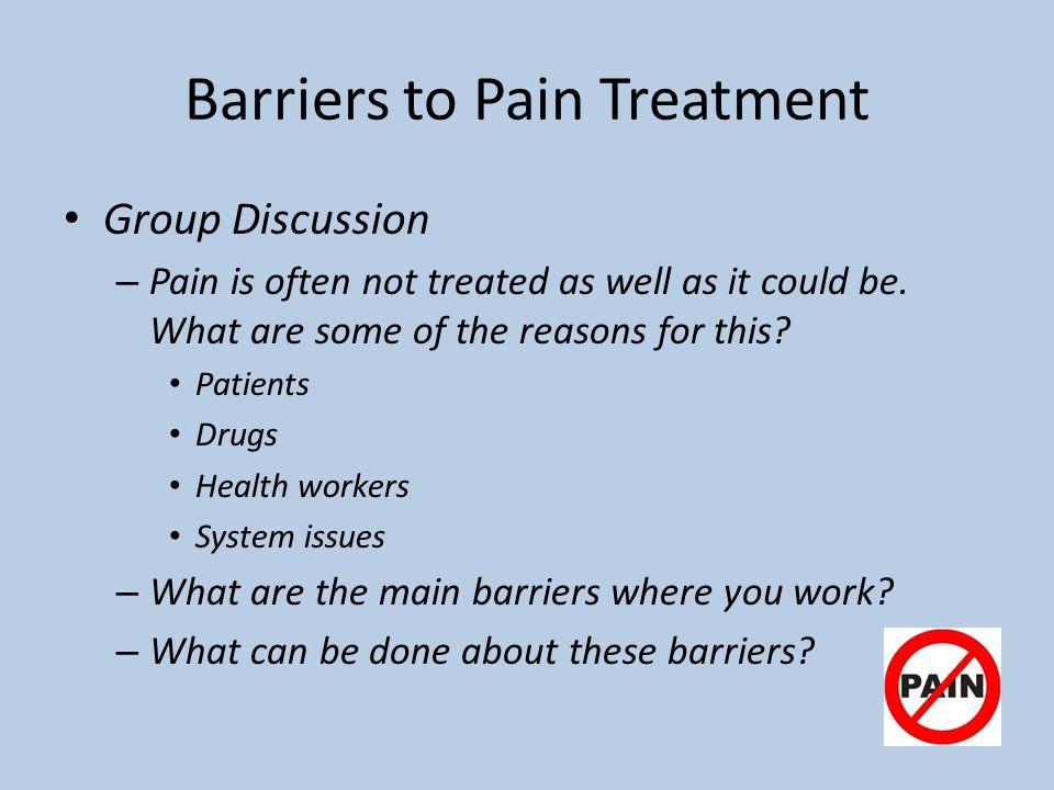 Barriers to Pain Treatment