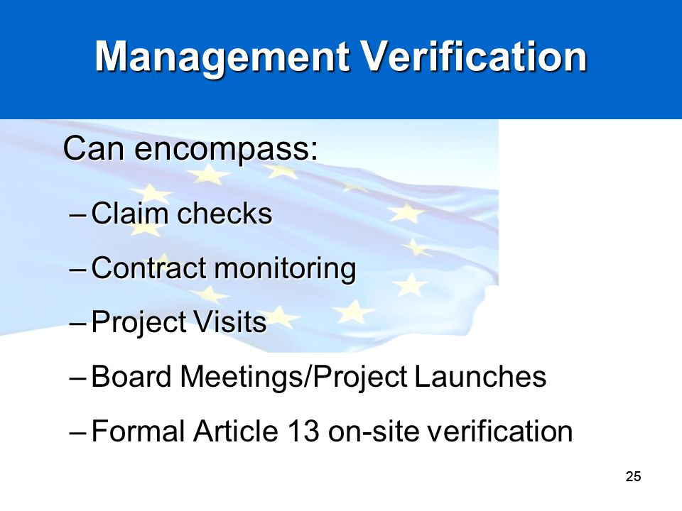 Management Verification