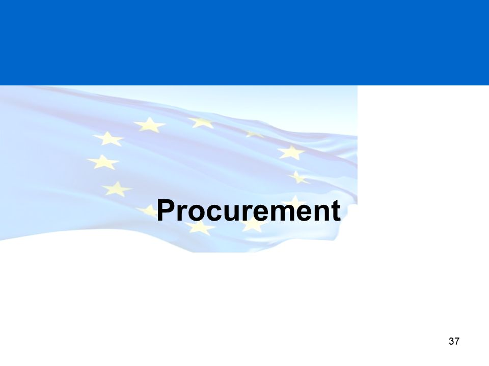 Procurement European Commission requires adherence to both EU and National rules. DFP (CPD) set NI thresholds and rules.
