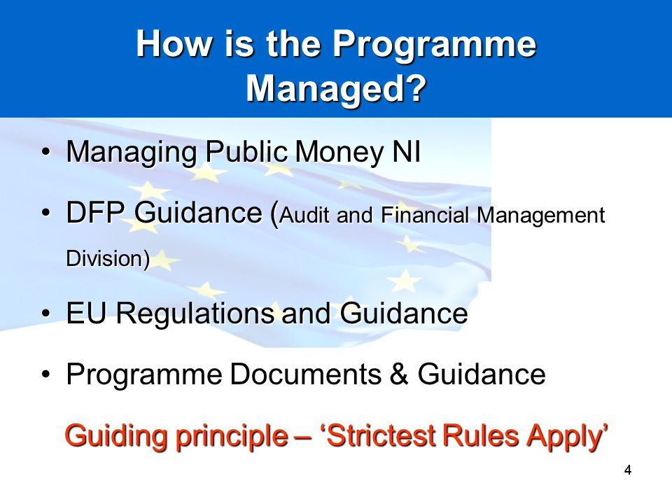 How is the Programme Managed