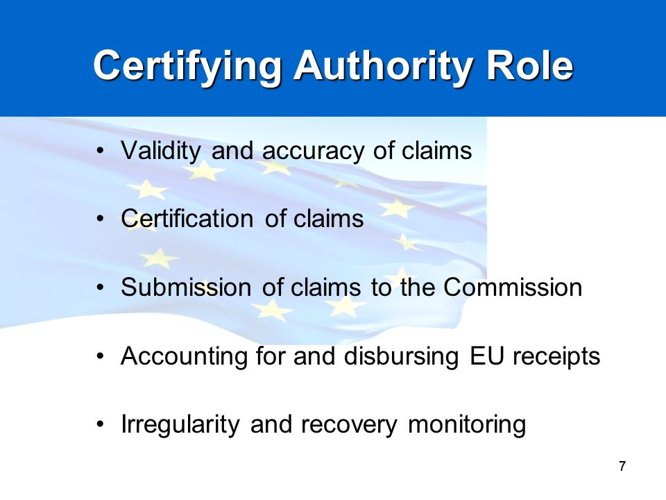 Certifying Authority Role