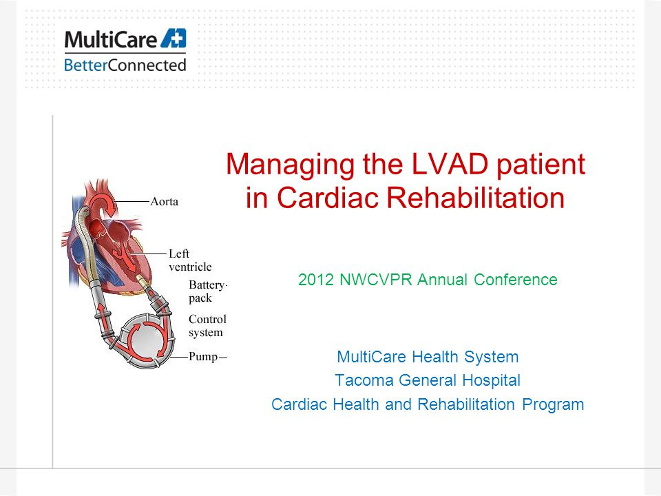 Managing the LVAD patient in Cardiac Rehabilitation