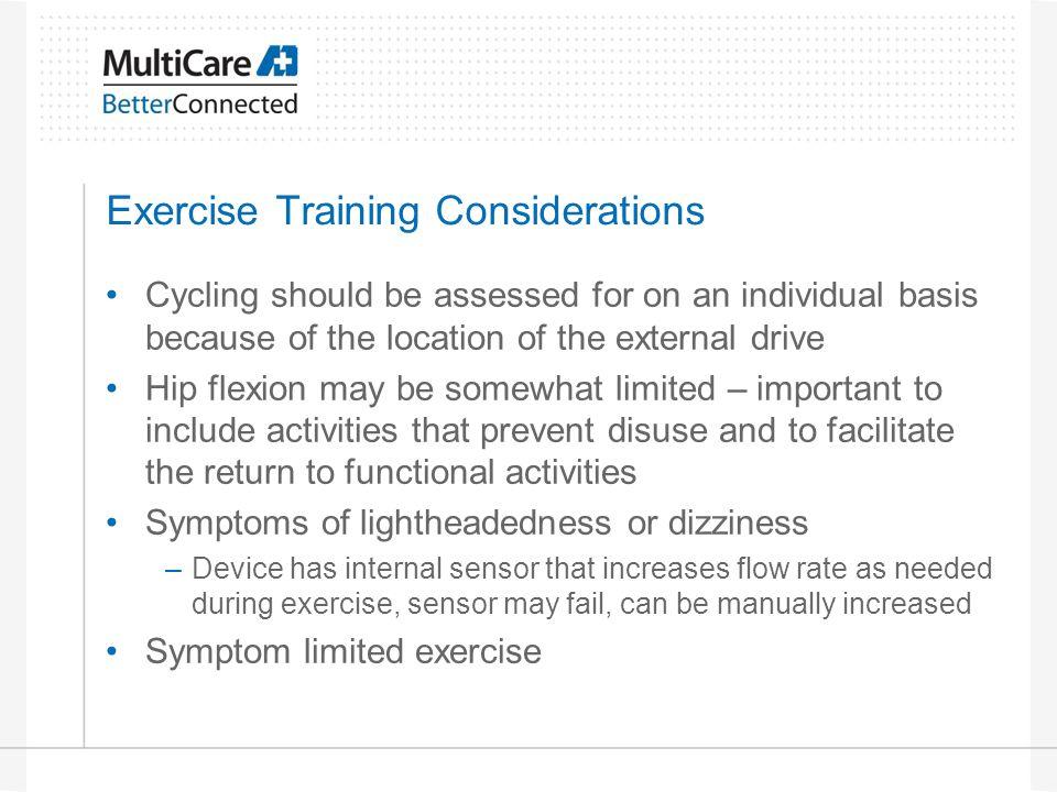 Exercise Training Considerations