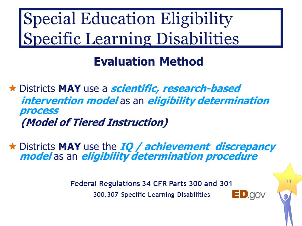 Special Education Eligibility Specific Learning Disabilities