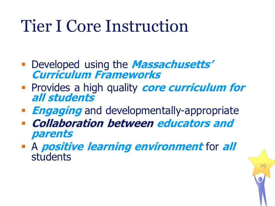 Tier I Core Instruction