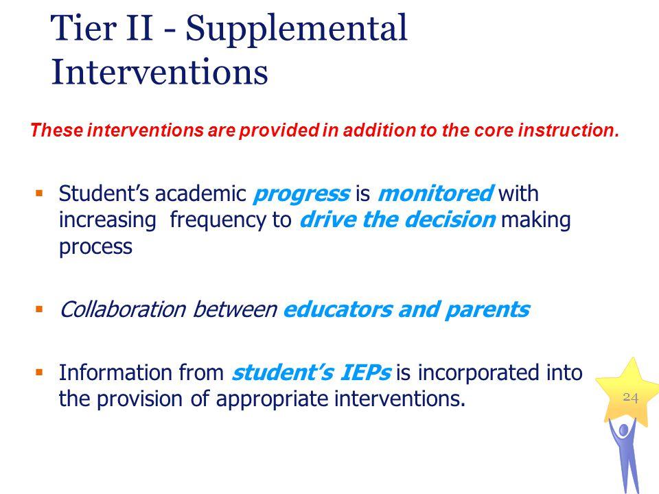 Tier II - Supplemental Interventions