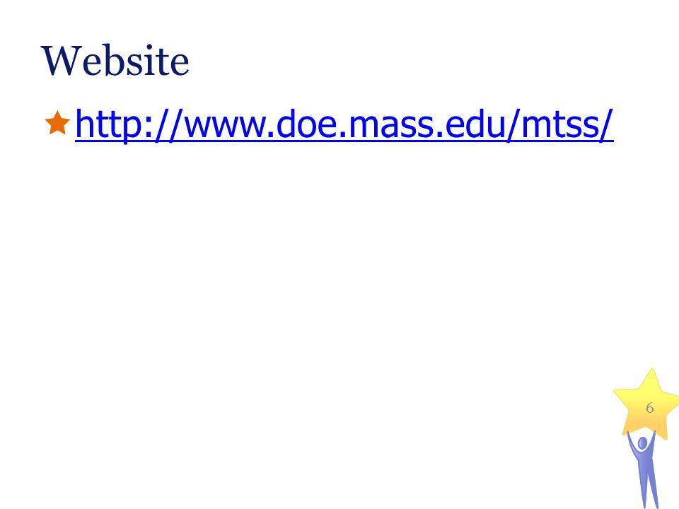 Website http://www.doe.mass.edu/mtss/