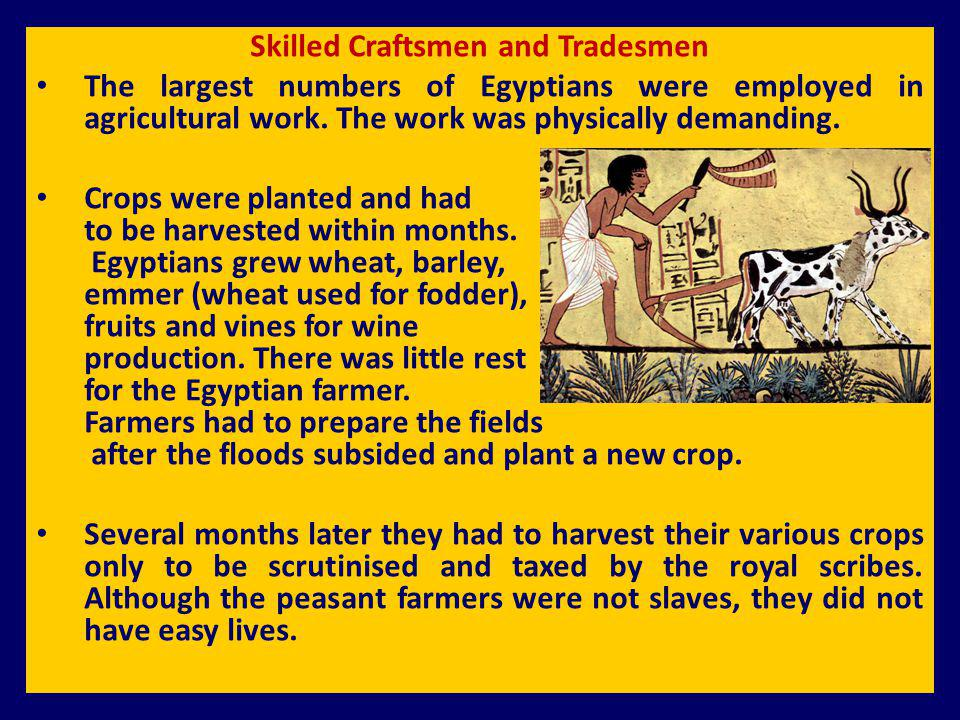 Skilled Craftsmen and Tradesmen