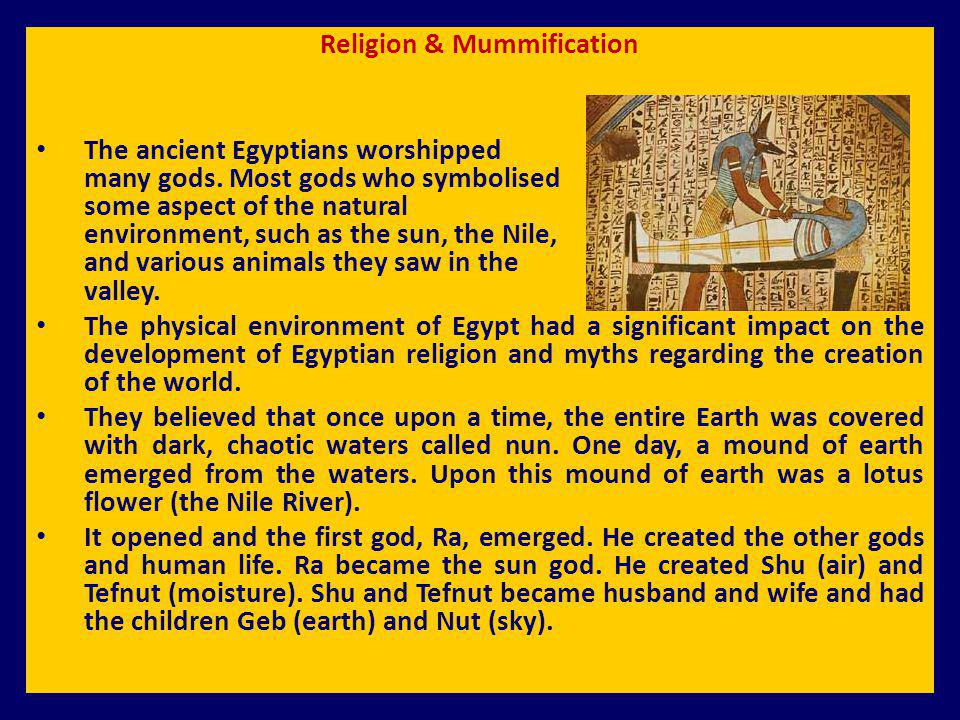 Religion & Mummification