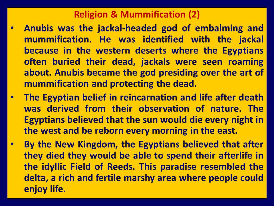 Religion & Mummification (2)