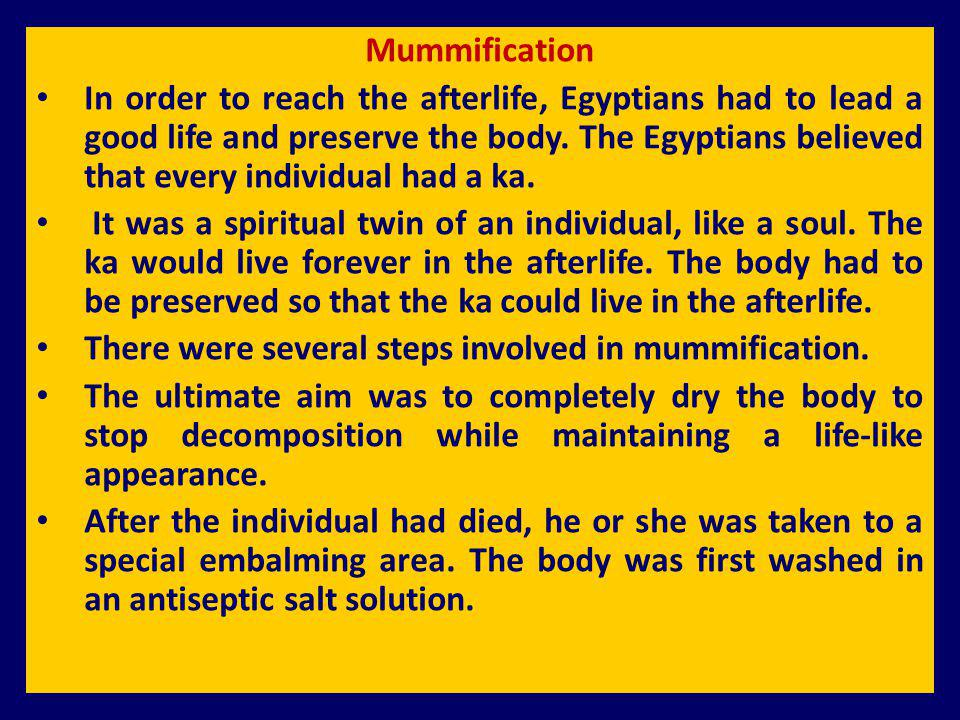 Mummification