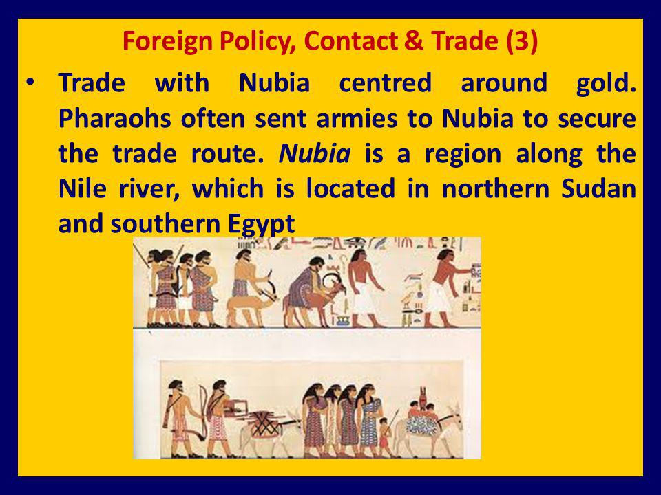 Foreign Policy, Contact & Trade (3)