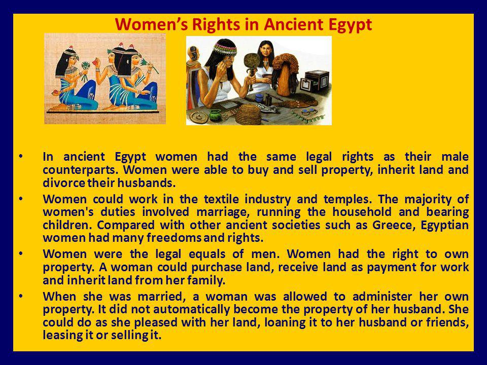 Women's Rights in Ancient Egypt