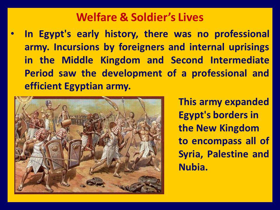 Welfare & Soldier's Lives