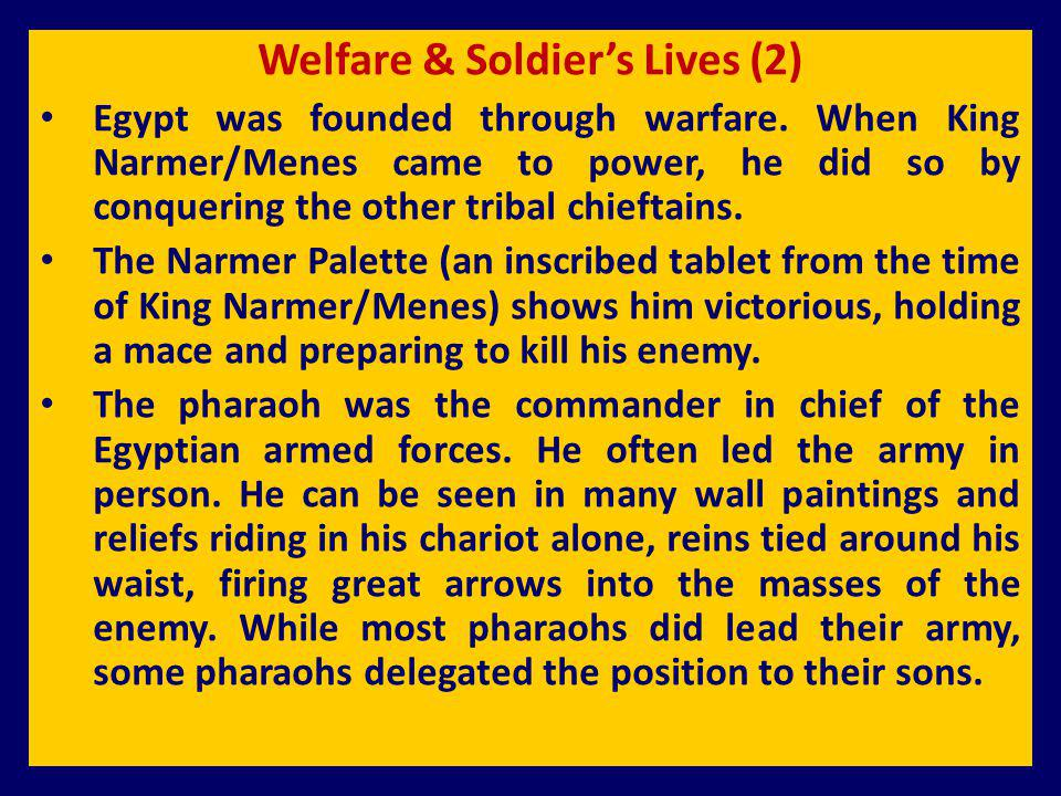 Welfare & Soldier's Lives (2)