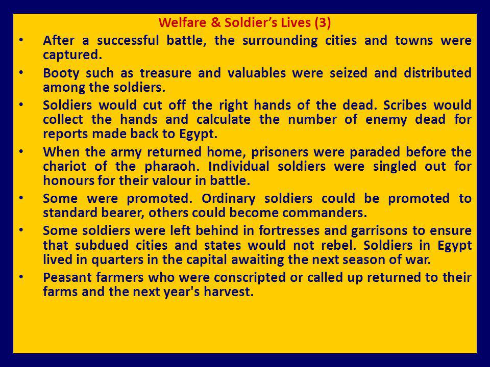 Welfare & Soldier's Lives (3)
