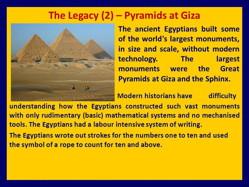 The Legacy (2) – Pyramids at Giza
