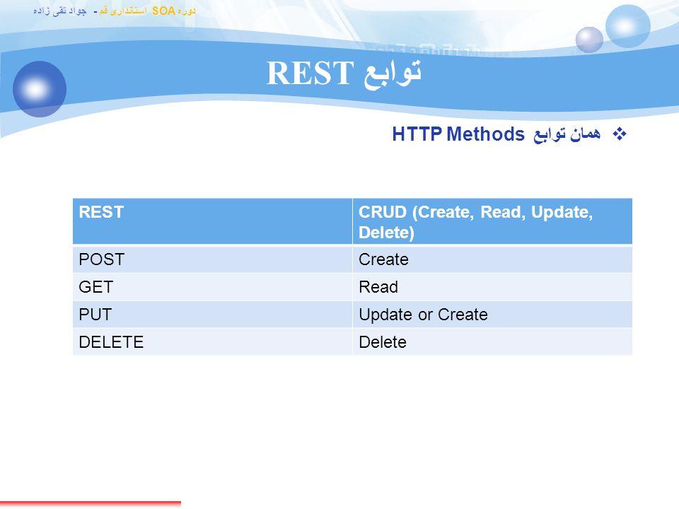 توابع REST همان توابع HTTP Methods REST