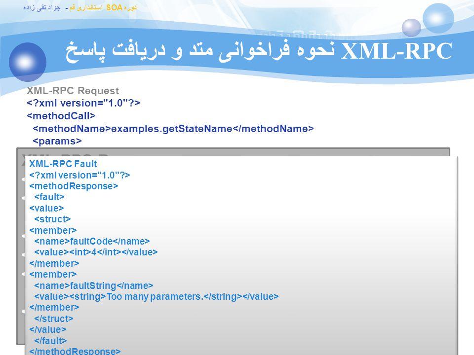XML-RPC نحوه فراخوانی متد و دریافت پاسخ