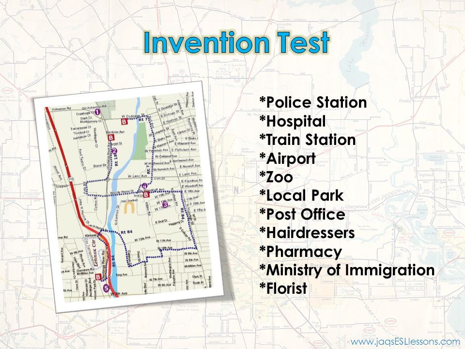 Invention Test *Police Station *Hospital *Train Station *Airport *Zoo