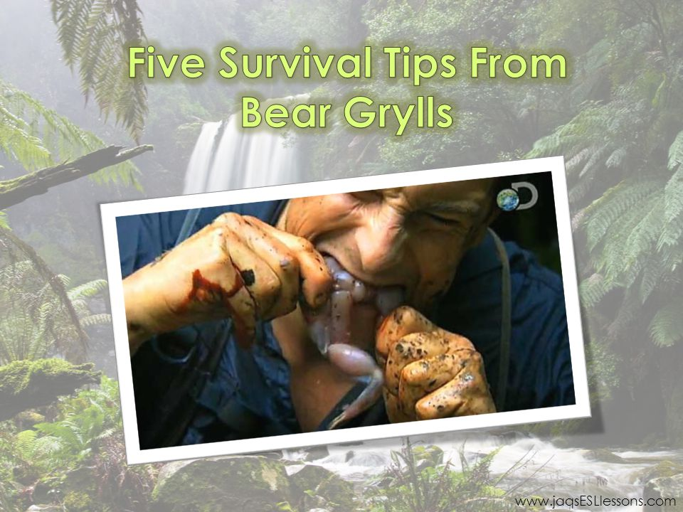 Five Survival Tips From Bear Grylls