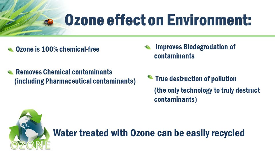 Ozone effect on Environment:
