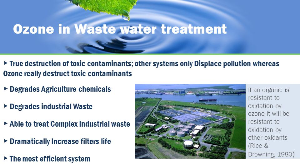 Ozone in Waste water treatment