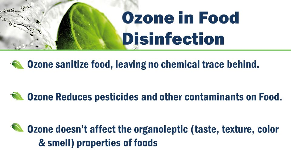 Ozone in Food Disinfection