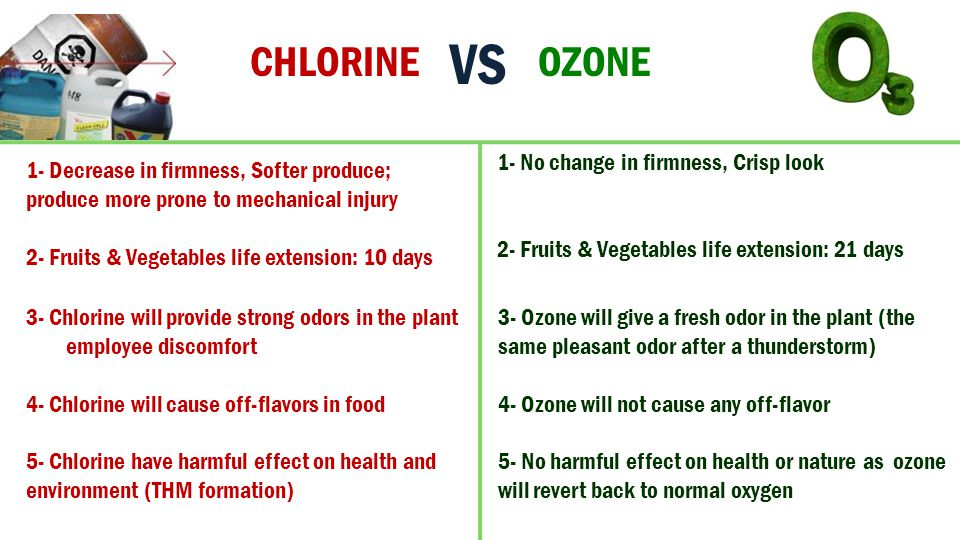 VS CHLORINE OZONE 1- No change in firmness, Crisp look