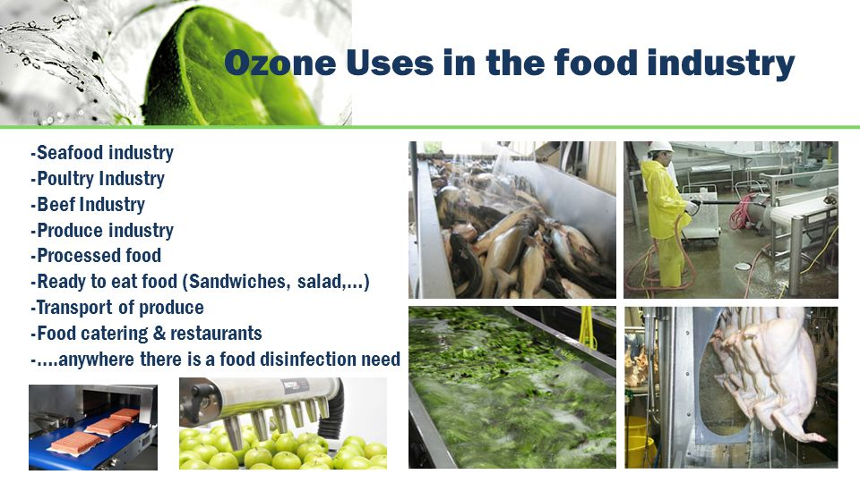 Ozone Uses in the food industry