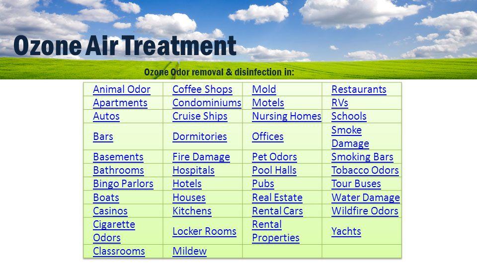 Ozone Air Treatment Animal Odor Coffee Shops Mold Restaurants