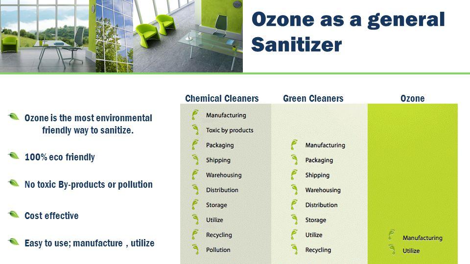 Ozone as a general Sanitizer