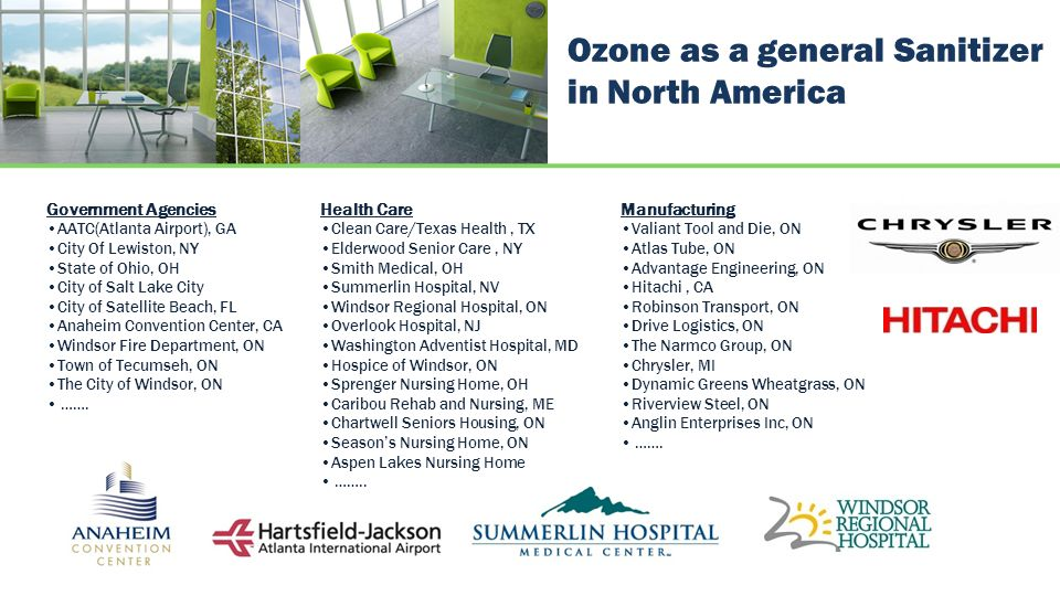 Ozone as a general Sanitizer in North America
