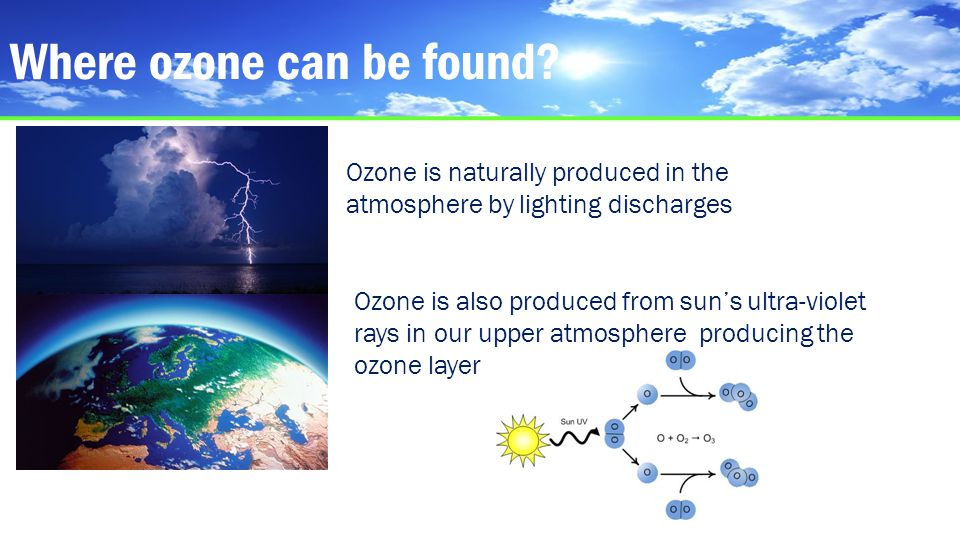Where ozone can be found