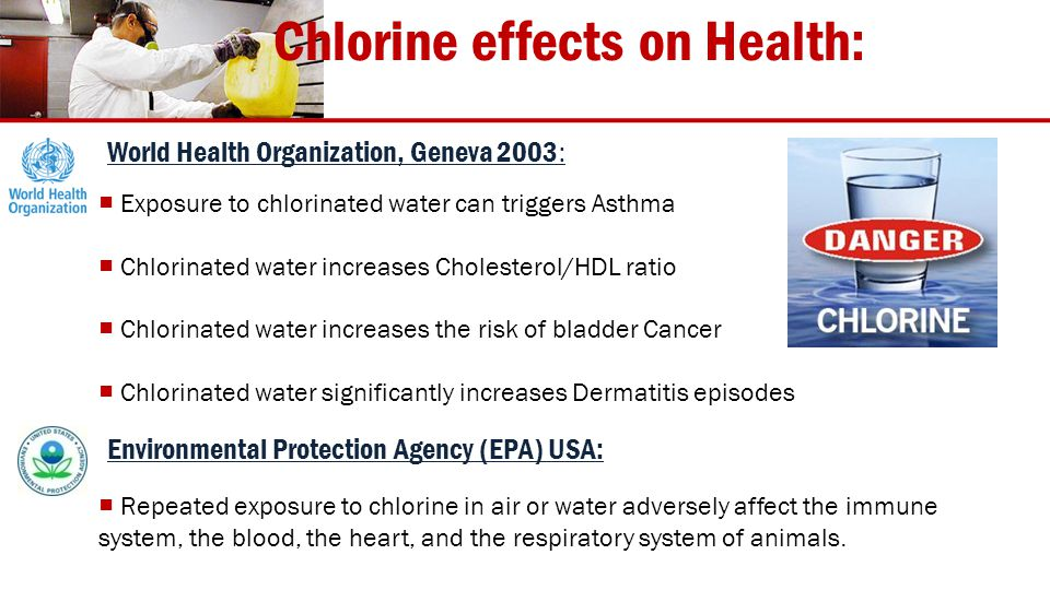 Chlorine effects on Health: