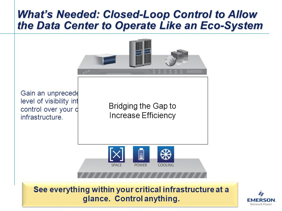 What's Needed: Closed-Loop Control to Allow the Data Center to Operate Like an Eco-System