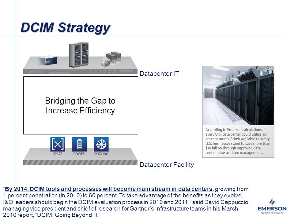 DCIM Strategy Bridging the Gap to Increase Efficiency Datacenter IT