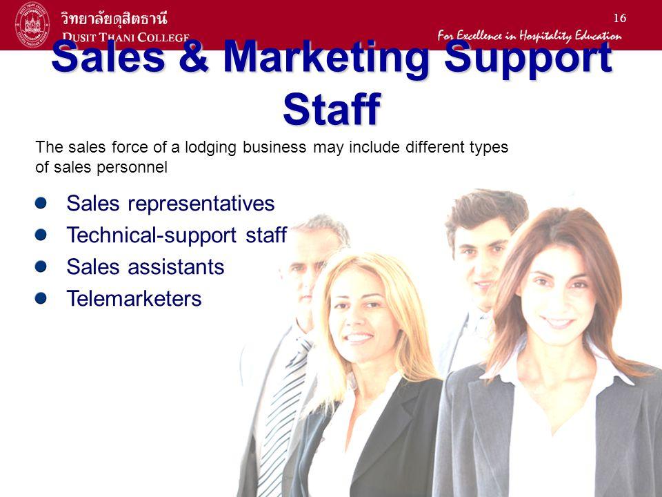Sales & Marketing Support Staff