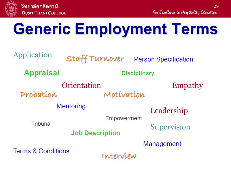 Generic Employment Terms