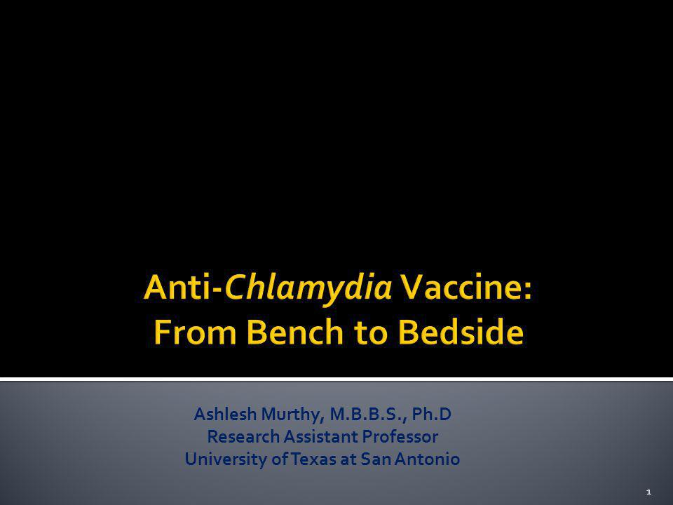 Anti-Chlamydia Vaccine: From Bench to Bedside