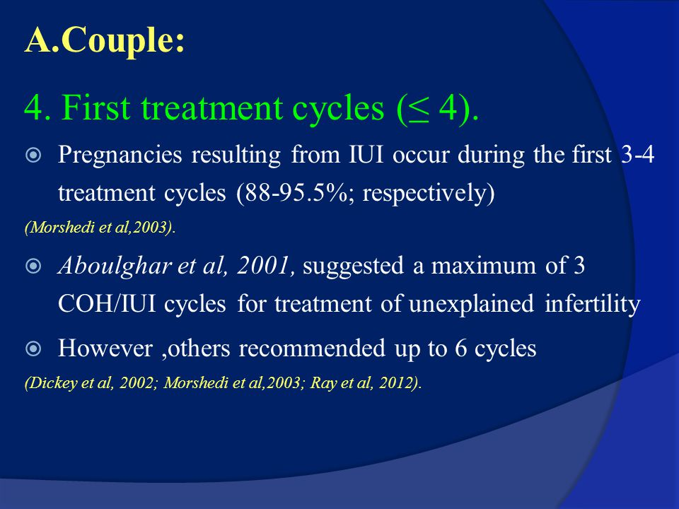 4. First treatment cycles (≤ 4).